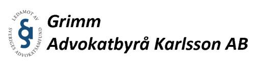 Grimm advokatbyrå Karlsson AB